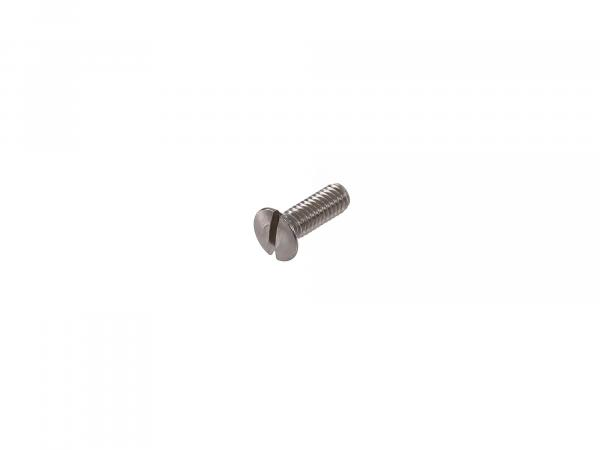 Slotted raised countersunk head screw, stainless steel M4x12 - DIN 964