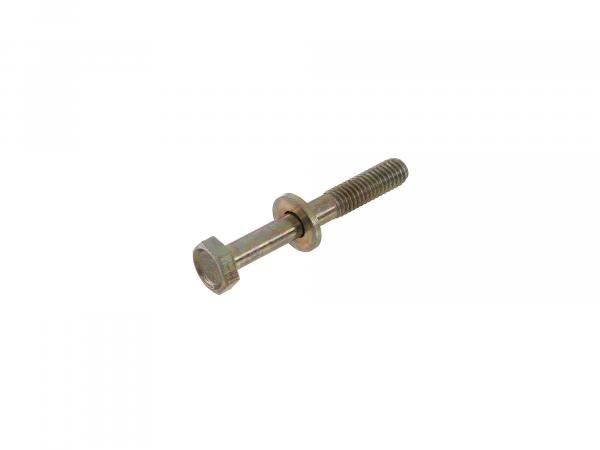 Hexagon head screw, yellow zinc plated with washer M6x45 - DIN931-Z1