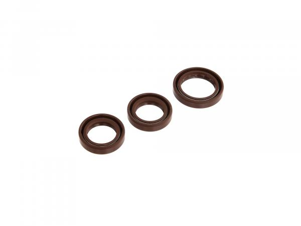 Set: Oil seals motor, brown, dust lip - MZ ETZ125, ETZ150