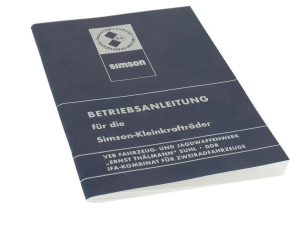 Betriebsanleitung Simson Ausgabe 1981 Simson S50, S51, S70, Schwalbe KR51, Star, Sperber, Habicht, SR4