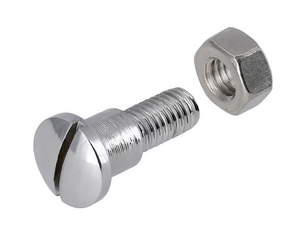 10057806 Befestigungsschraube zylindrisch Edelstahl poliert - für MZ BK30, RT125 - IWL SR56 Wiesel, SR59 Berlin, TR150 Troll - Bild 1