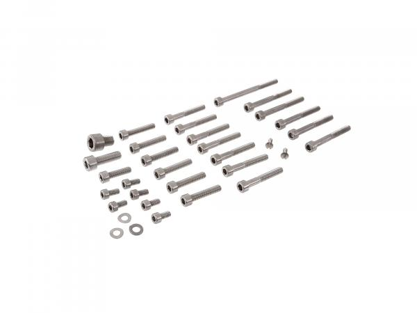 Set: cylinder screws, hexagon socket in stainless steel for engine housing, kick starter, gear lever for Schwalbe KR51/1, Star, Sperber, Habicht, SR4