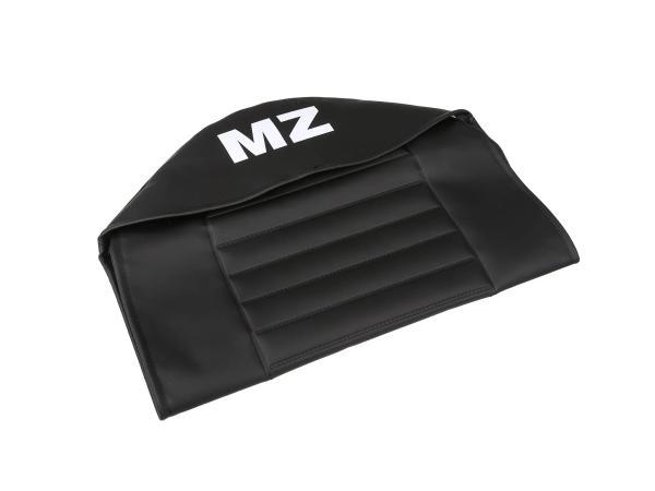 Sitzbezug strukturiert, schwarz mit MZ-Schriftzug - für MZ TS125, TS150