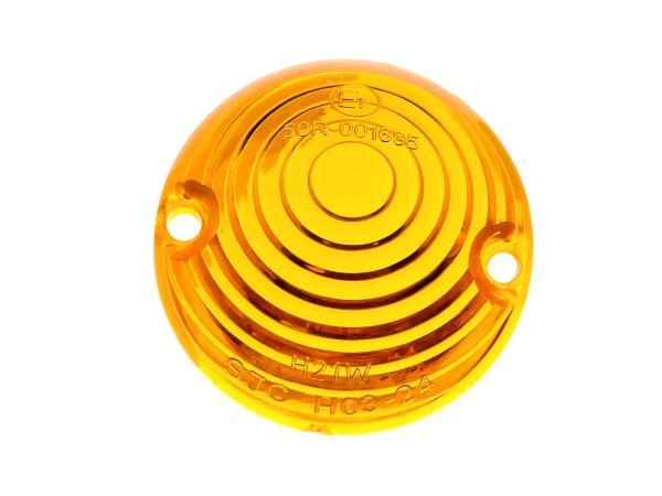 Blinkerkappe Ochsenauge, Orange - für Simson KR51 Schwalbe - MZ ES - IWL TR150 Troll