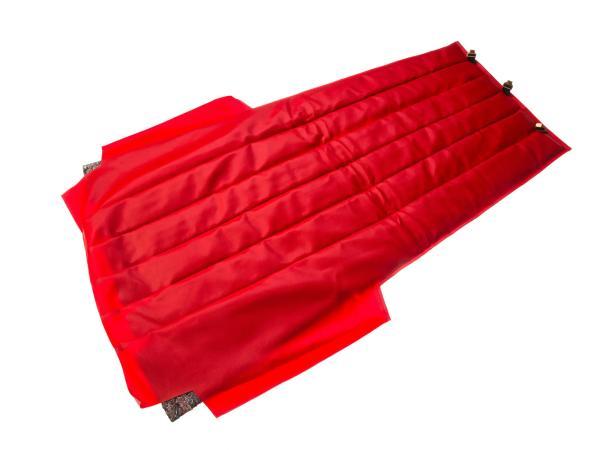 Sitzbezug mit Polsterung rot, incl. Montageanleitung und Befestigungsmaterial - für Beiwagen Superelastik