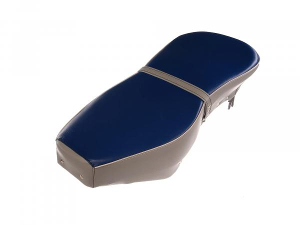 Sitzbank komplett blau-grau mit Riemen - für AWO-Sport