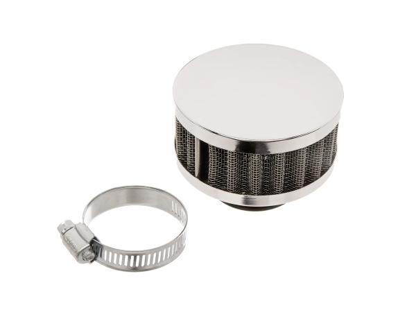 Luftfilter Sport - Chrom, flach (Aufnahme 35 - 40mm)