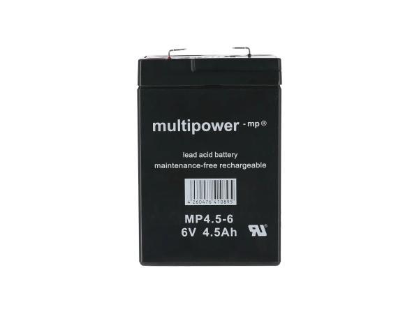 GP10000670 Batterie - 6V 4,5Ah Multipower (Gelbatterie) - Bild 1