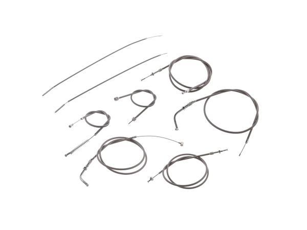 Bowdenzug-Set in Grau - für Simson KR50 (Gaszugfunktionsl. 40mm)