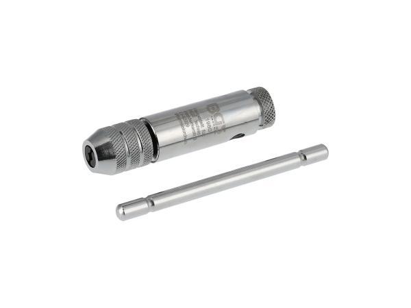 10069858 Werkzeughalter für Gewindebohrer M3-M10, mit Knarre, 80mm - Bild 1