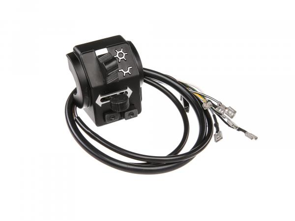 Switch combination 8626.19/7 with cable and headlight flasher, 6V - Simson SR50, SR80