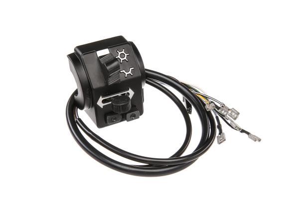 Schalterkombination 8626.19/7 mit Kabel und Lichthupe, 6V - Simson SR50, SR80