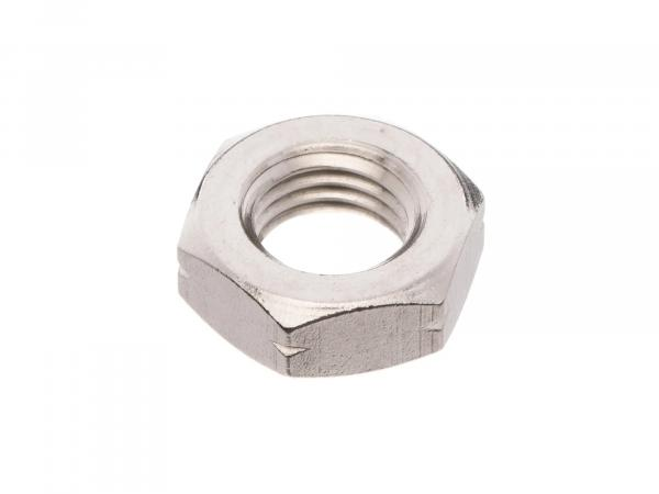Hexagon nut M12x1,5 low form, in stainless steel - DIN936