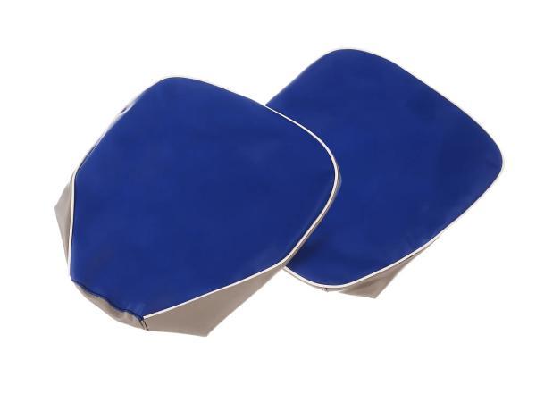 Set: 2x Sitzbezug blau-grau (für Einzelsitze) - für AWO-Sport
