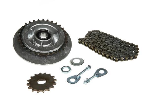 Kleines Kettenradantrieb-Set (Ketten-Set) - für Simson SR50, SR80
