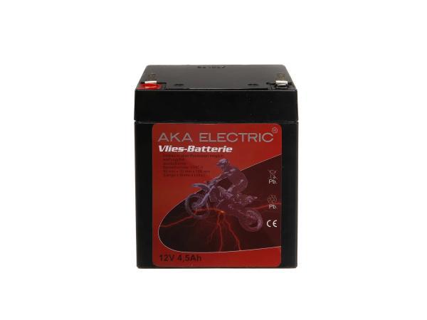 10007772 Batterie - 12V 4,5Ah AKA (Vlies - wartungsfrei) - für Simson S51, S70, SR50, SR80 - Bild 1