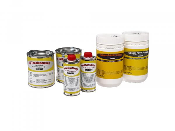 Set: Tank sealant for tanks up to 80 litres, 4 parts
