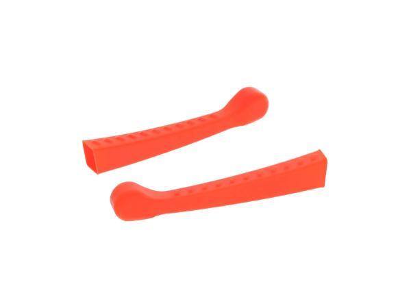10070479 Set: 2x Handhebel-Hülle 3D, Neon Orange, Sport-Optik - für Simson S50, KR51/1 Schwalbe, SR4-2 - Bild 1