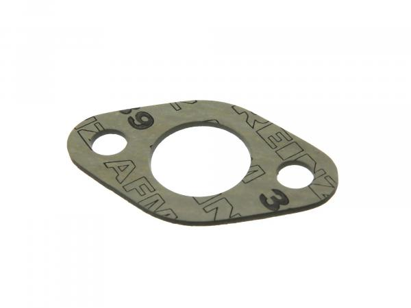 Gasket to carburettor flange - 2 mm thick, ø 25 mm fit. for AWO 425T - ( Brand: PLASTANZA / Material AMF 39 )