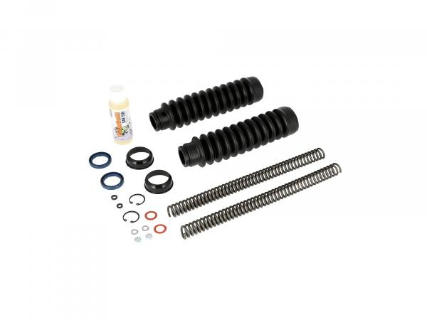 Set: Telescopic fork repair, with bellows, compression spring 3,2mm - Simson S50, S51, S53, S70, SR50, SR80