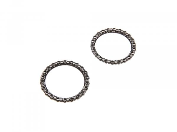 Set: 2x steering bearings ball ring, ball holder - Simson S51, S50, S70, S53, S83, SR50, SR80, Schwalbe KR51, SR4