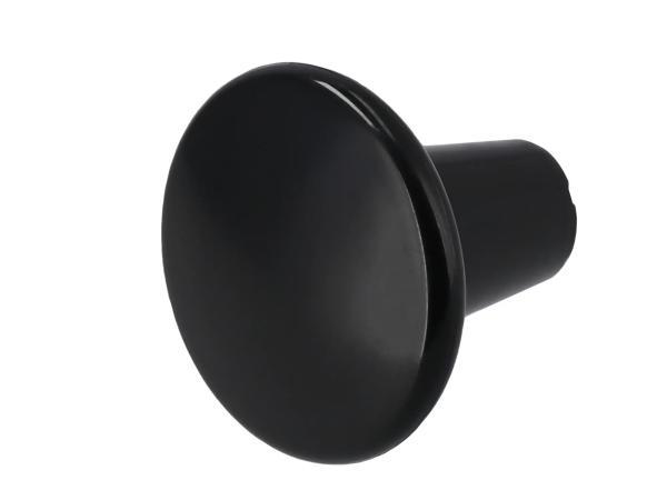 Knob KR50, draw-wire knob M6, black galvanized