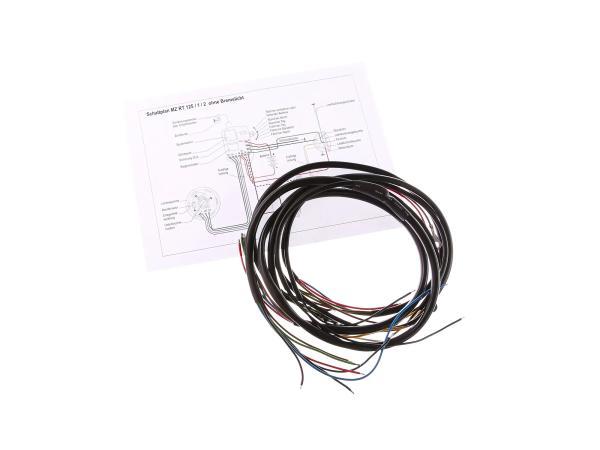 Kabelbaum mit Schaltplan (ohne Bremslicht) passend für RT125/1, RT125/2
