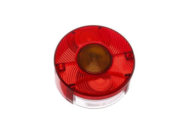 Ersatzglas für Dreikammerleuchte rund mit Kennzeichnenbeleuchtung (für Fahrzeuge aus der DDR)