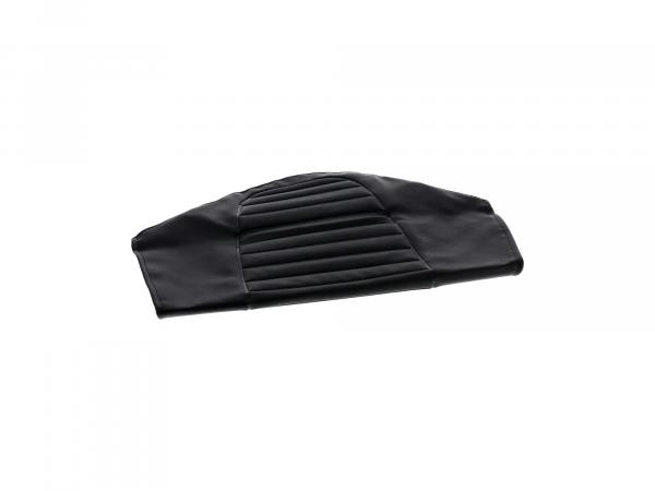 Seat cover structured, black, version without tool compartment - for MZ TS250