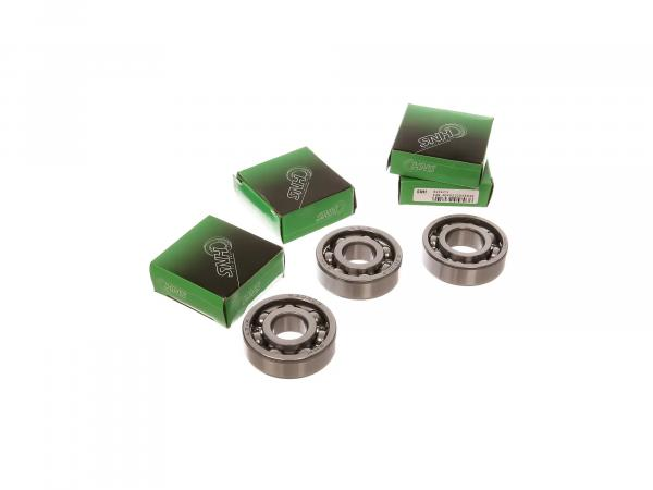 Set: Ball bearing hub front + rear, 4 parts - Simson AWO 425S, 425T