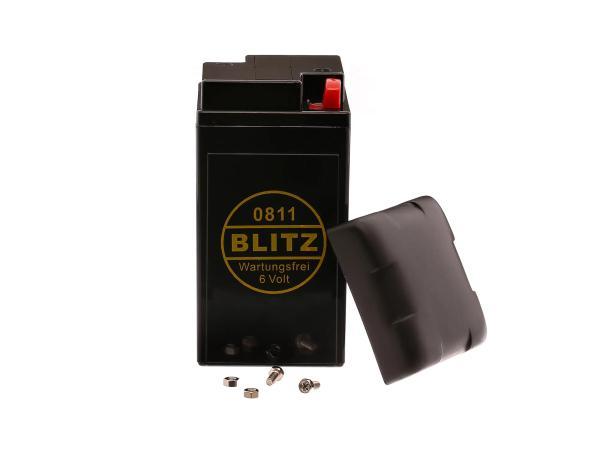 Batterie 6V 8Ah (Vlies - wartungsfrei) mit Deckel - für Simson AWO, MZ, EMW