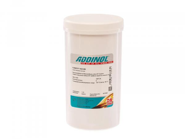 ADDINOL fluid grease SGA 600 - sodium soap grease based on mineral oil - 1kg can
