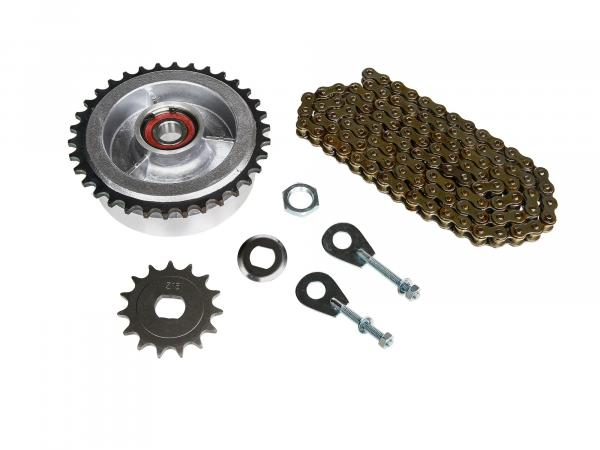 Small sprocket drive set (chain set) - for Simson KR51/2 Schwalbe
