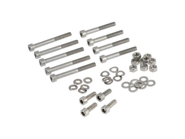 ST10001234 Stückliste - Set: Zylinderschrauben, Innensechskant in Edelstahl für Kotflügel/Schutzblech vorn/hinten Simson SR50, SR80 - Bild 1
