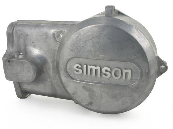 """10002365 Lichtmaschinendeckel Alu-natur mit """"SIMSON"""" Schriftzug - Simson S51, S53, S70, S83, SR50, SR80, KR51/2 - Bild 1"""