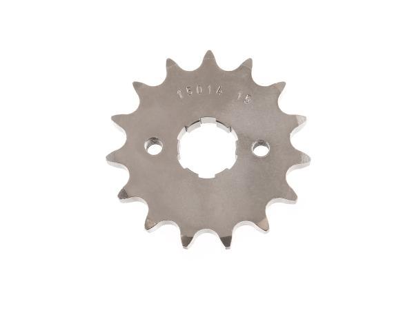 Ritzel (kleines Kettenrad), 15 Zahn Simson Schikra 125