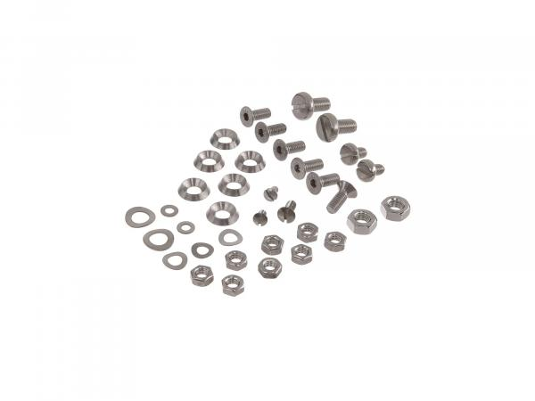 Set: screws, hexagon socket/slot in stainless steel for lamp mask, knee plates, footboards, armature plate, battery plate on KR51/1, KR51/2
