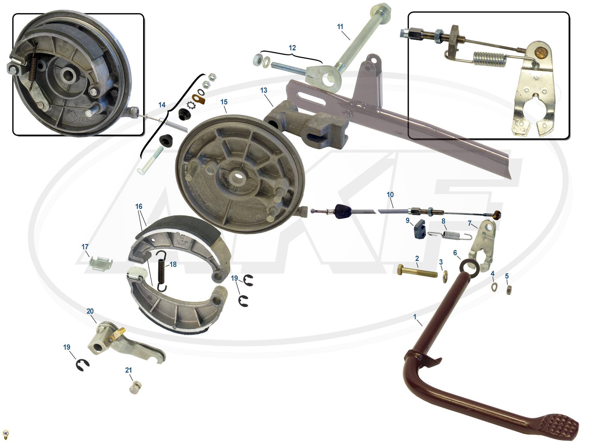 Feder für Kippständer Zugfeder SR2E SR4-1 SR4-2 SR4-3 SR4-4 KR51 S50 S51 SR50