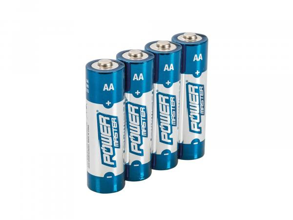 Set: 4x AA Power Master Alkali-Batterien, 1,5Volt