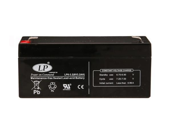 Batterie 6V 3,2Ah LANDPORT (Vlies - wartungsfrei) - für Simson AWO 425, MZ RT
