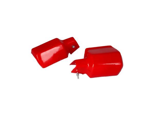 Set: 2x Protektor Lenkerhandschutz in Rot - für MZ ETZ