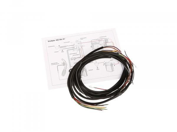 Cable harness suitable for NSU OSL 251 (with wiring diagram)