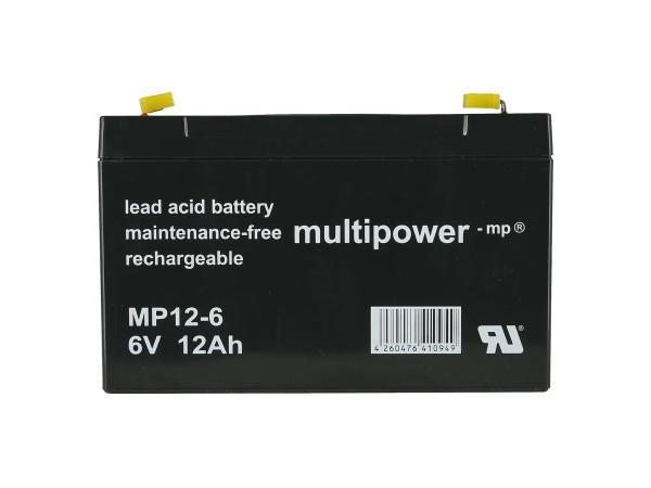 GP10000571 Batterie 6V 12Ah (Gelbatterie) - Bild 1