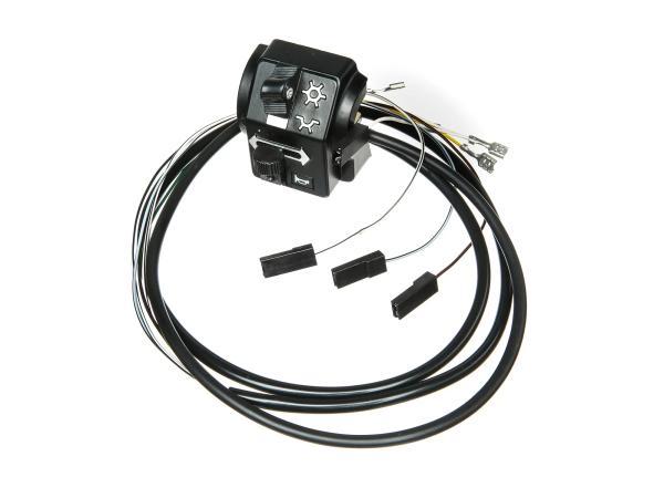 10063423 Schalterkombination 8626.19/16 mit Kabel, ohne Lichthupe, 12V, Hochlenker - Simson S51, S70 Enduro - Bild 1