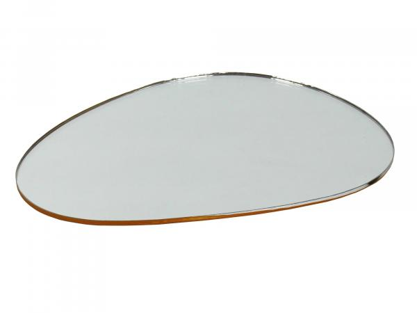 Mirror glass, kidney-shaped, left, 117 x 82mm