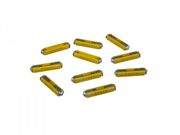 Set: 10 fuses 5A Yellow
