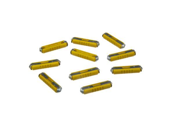 Set: 10 Sicherungen 5A Gelb