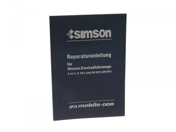 Book - repair instructions Simson S51, S70, SR50, SR80