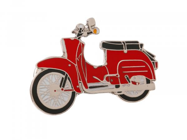 SIMSON-Pin Schwalbe in Rot