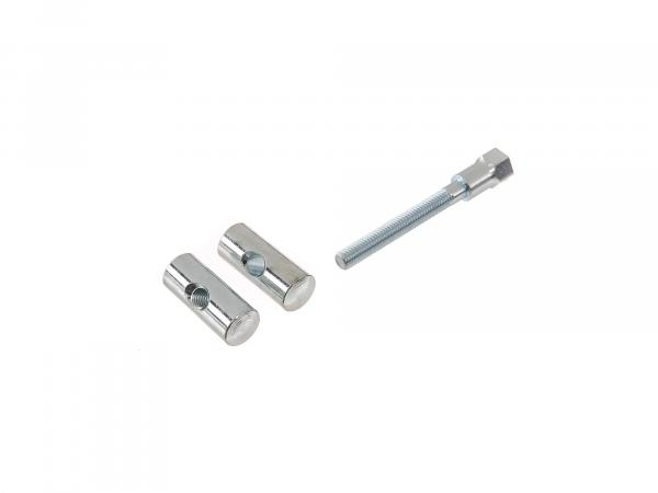 Set tension bolt, front + rear with screw, galvanized - for battery holder, suitable for AWO 425T